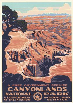 Canyonlands National Park WPA Style Poster