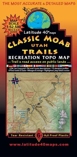 Classic Moab Trails Recreation Topo Map 6th Edition