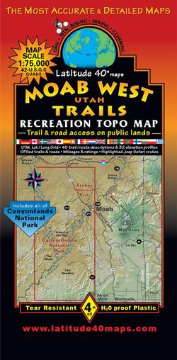 Moab West Trails Recreation Topo Map
