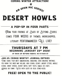 Desert Howls: A Pop-Up Open Mic in Four Parts
